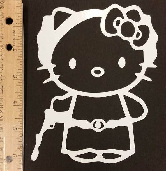Kitty Princess Vinyl Decal, Sci Fi Princess Kitty Decal