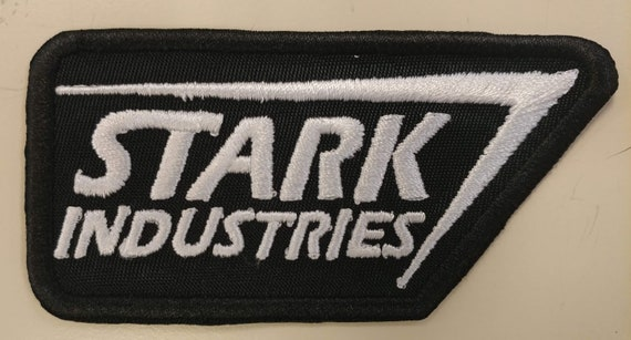 Fictional Workplace Comic Book Embroidered Patches, Superhero Industries Iron On Patch