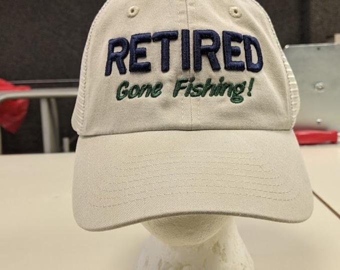 Retired Gone Fishing Hat
