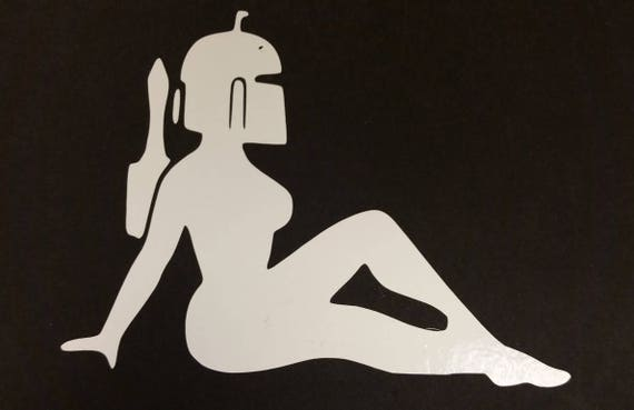 Sci Fi Bounty Babe Vinyl Decal, Funny Sci Fi Car Decal
