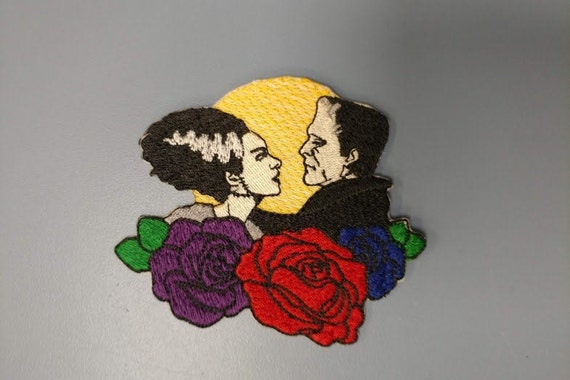 Horror Couple Embroidered Patch