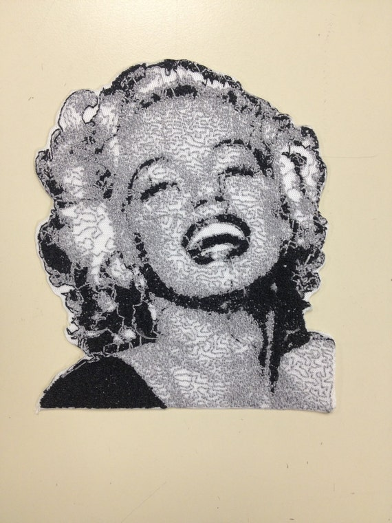 Classic Film Actress Embroidered Patch, Hollywood Retro Star Patch, Monroe Iron On Patch, Hollywood Movie Star Patch