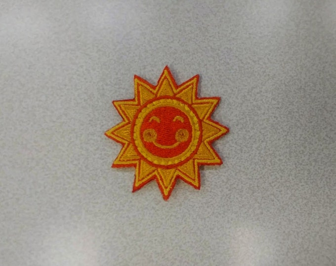 Sun Embroidered Patch