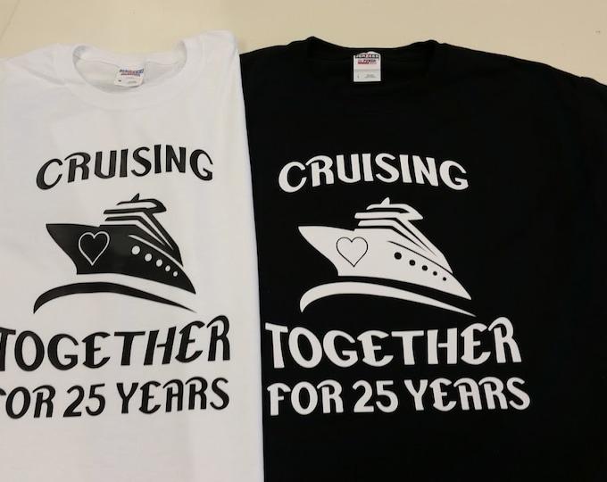 Couples Anniversary Cruise Tee Shirt Set