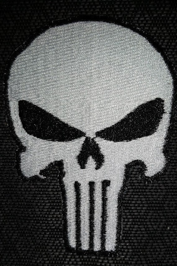 Comic Mercenary Embroidered Patch, Iron On Patch, Comic Vigilante Sniper Patch, Embroidered Skull Patch, Comic Book Fan Embroidered Patch