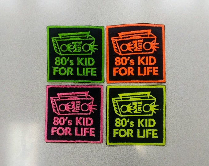 80s Kid Embroidered Patch,  80s Decade Iron On Patch