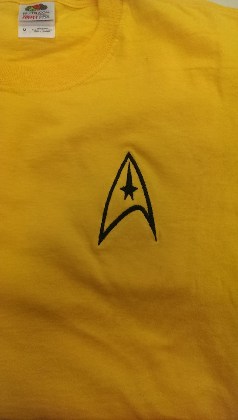 Sci Fi T-shirt with Command Symbol Space Adventure Fanwear image 0