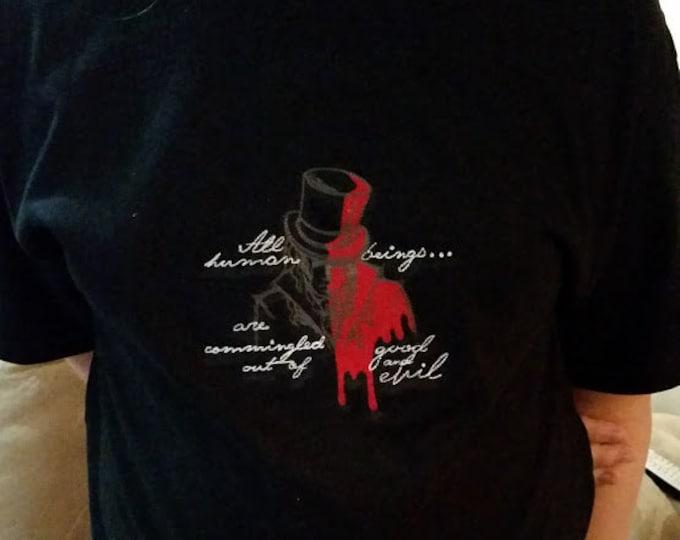 Good and Bad Embroidered Tee Shirt, Literary Classic Tee Shirt, Halloween Classic Tee Shirt, Classic Literature Book Tee Shirt