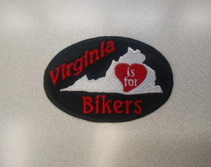 Virginia Motorcycle Rider Biker Patch