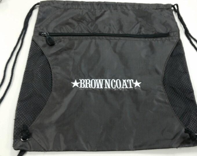 Browncoat Drawstring Cinch Bag, Space Cowboy Fan Bag, Geek Gear Cinch Bag