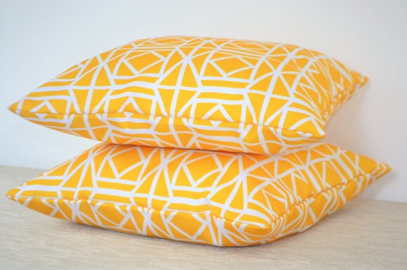 """26/"""" 18/"""" 22/"""" 24/"""" Yellow WATERPROOF OUTDOOR Cushion Covers//Patio Pillows 16/"""""""
