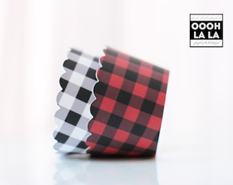 MADE TO ORDER Set of 100 Buffalo Plaid/Check Cupcake Wrappers