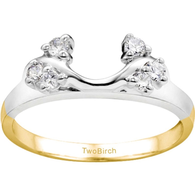 .12ct Sterling Silver with Cubic Zirconia Bypass Style Solitaire Ring Wrap