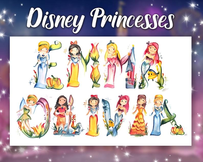 Disney Princess Name Painting  Name Art  Letter Art  Name image 0
