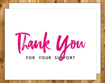 Thank You Card Thank You Donation Thank You Cards Set Etsy