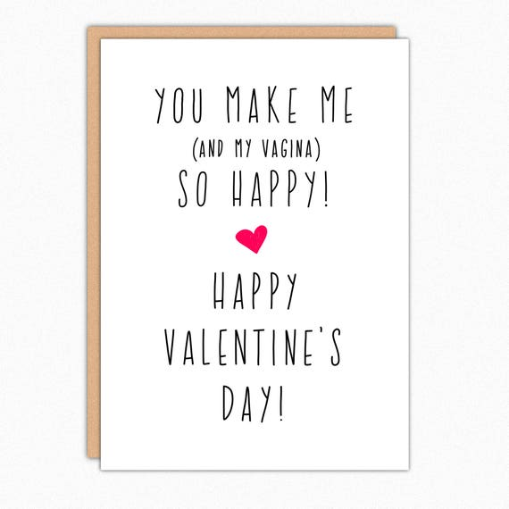 Funny Valentine Card Naughty Valentines Day Card Sexy Etsy