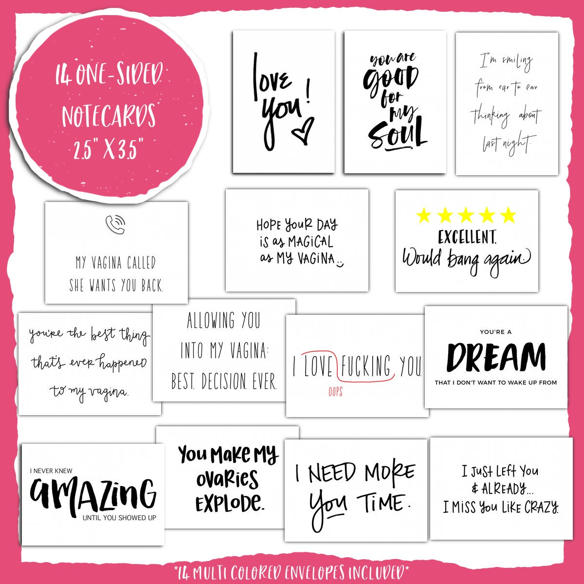 Notes for love him sexy 101 Romantic