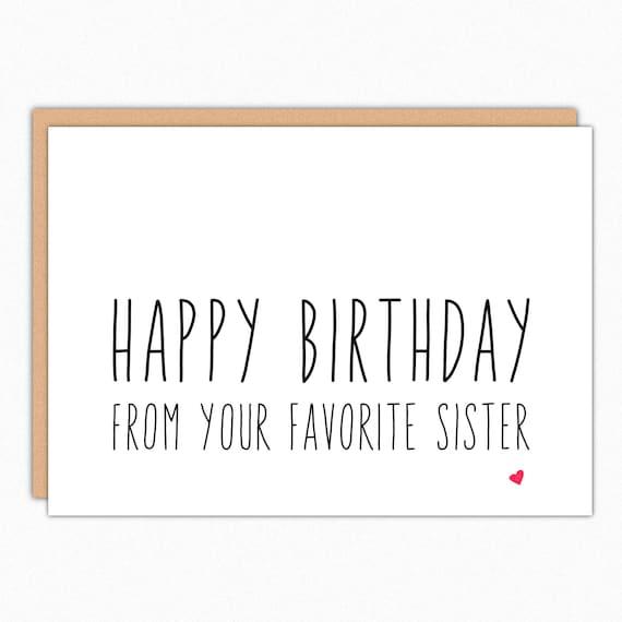 Brother Birthday Card Sister Birthday Card Funny Birthday Etsy