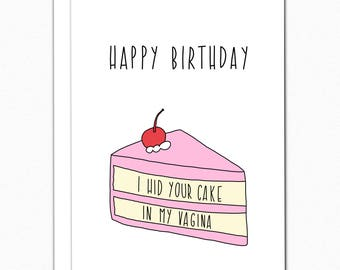 Birthday Card Boyfriend. Birthday Card For Him. Birthday Gifts For Boyfriend. Funny Birthday Card Naughty Birthday Card. I Hid Your Cake 046