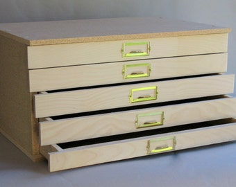 Flat file cabinet etsy storage cabinet flat file save by finishing the exterior yourself econo model malvernweather Images