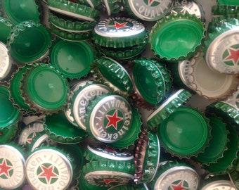 100 HEINEKEN Bottle Caps