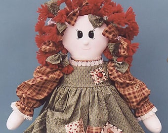 Charlotte Rag Doll Sewing Pattern - MAILED Posted version