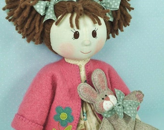 PDF - Millie & Rose Rag Doll Sewing Pattern - Instant download