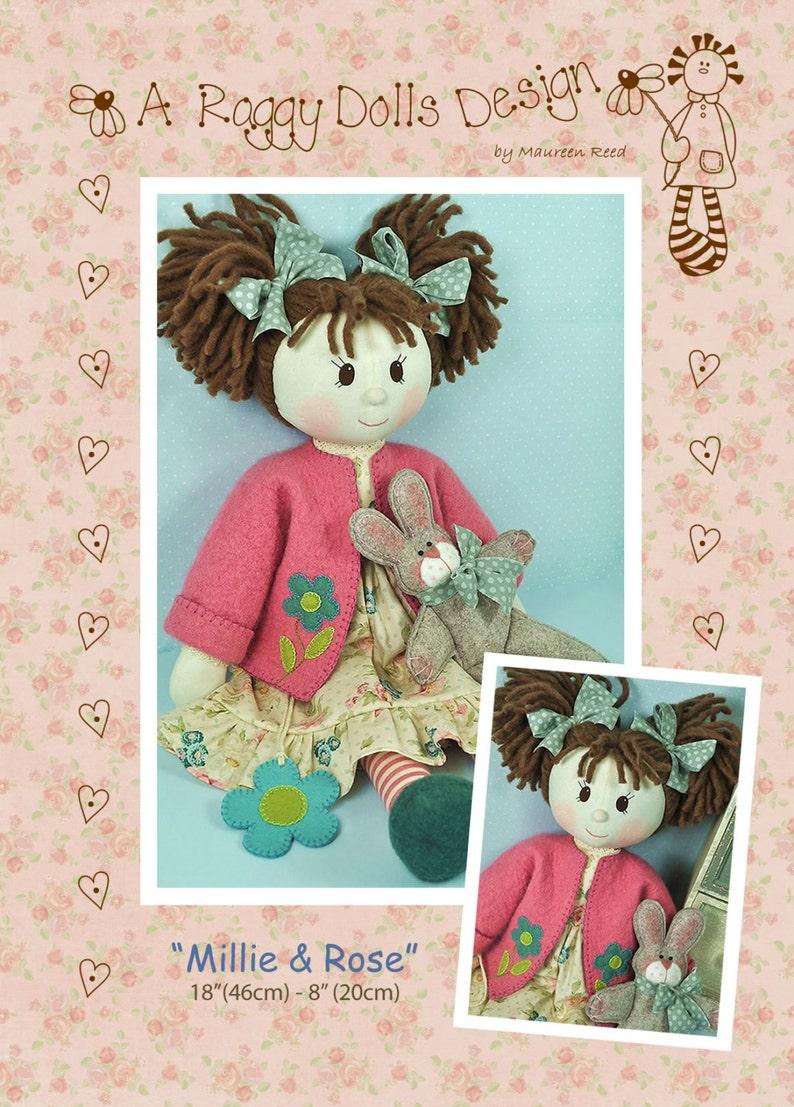 PDF  Millie & Rose Rag Doll Sewing Pattern  Instant download image 0