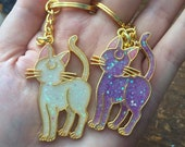 Sailor Moon Artemis and Luna Keychains **new luna design**