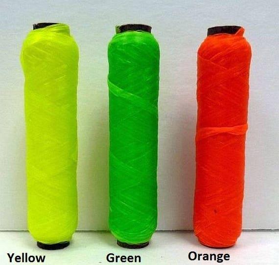 Lumineux fluo nous tendon canette Tasha 70 # test Brite couleur cire fil perles artisanat USA sécurité vert jaune Orange