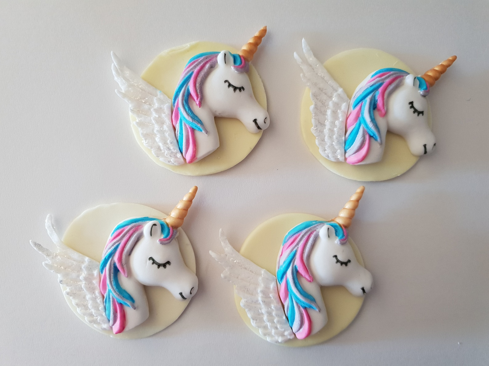Unicorn Fondant Cupcake Toppers Page Two