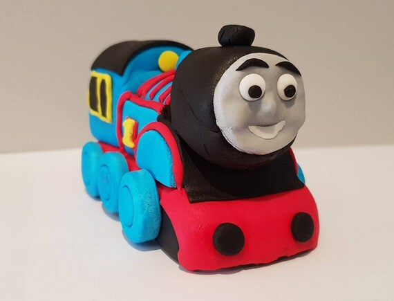 Thomas Blue Steam Engine Train Edible Cake Topper Custom Sizes Etsy