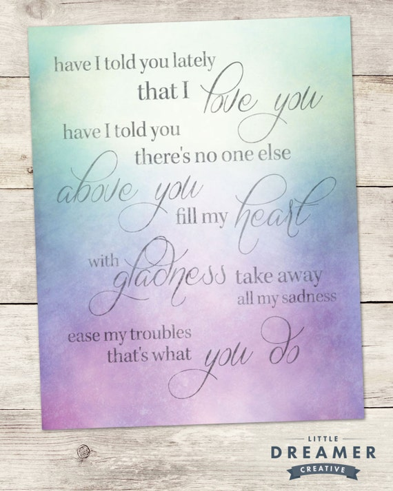 Love Quote Print-Typography Poster- \