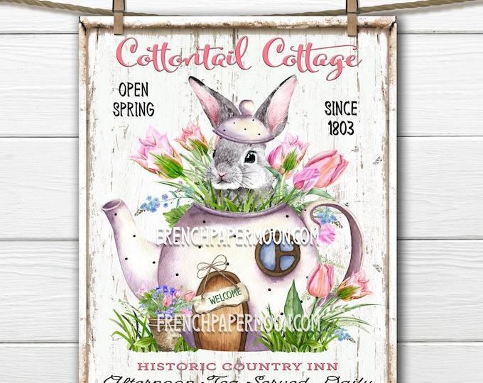 Easter Bunny, Spring Bunny, Garden Bunny, DIY Easter Bunny Sign, Spring Teatime, Floral Easter Pillow Image, Wreath Decor, Wood, Transparent