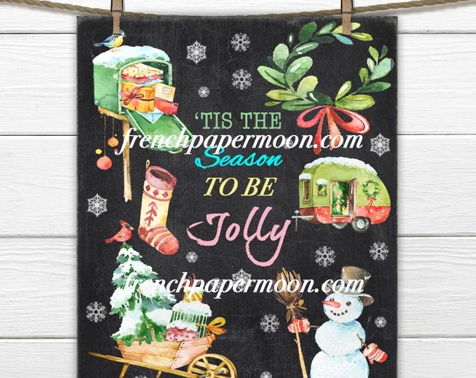 Digital Chalkboard Christmas, Holiday Printable Art Print, Christmas Party Decor, Table Print, Wall Art, Christmas Crafts