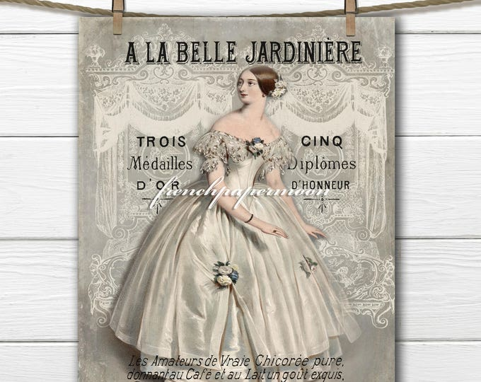 Vintage French Fashion Digital Collage,  19th Century French Fashion Digital Sheet, Craft Supply, Printable Collage Sheet, Decoupage