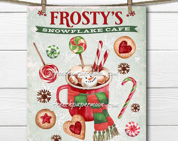 Cute Hot Chocolate Christmas Sign, Christmas Candy, Winter Drink, Xmas Mug, Scarf, DIY Christmas Plaque, Pillow Image, Crafts, PNG