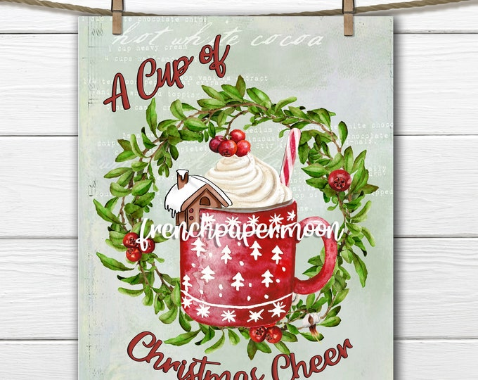Christmas Drink, Hot Chocolate Graphic, Gingerbread House, Winter, Xmas Mug, Cranberry Wreath, Pillow Image, Transparent, Crafts