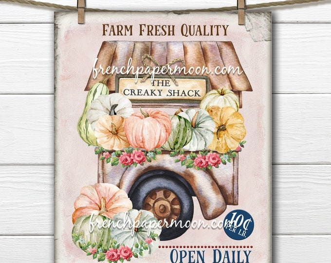 Farmhouse Pumpkins for Sale, Pumpkin Farm Stall, Farm, Farm Fresh Pumpkins, Fall Pumpkin Pillow Image, DIY Pumpkin Sign, Print, PNG, JPEG