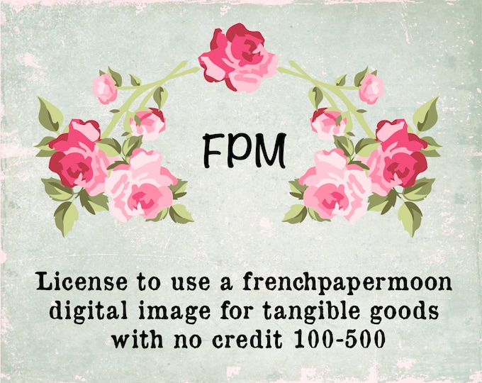 Commercial Use License for Tangible Goods 100-500