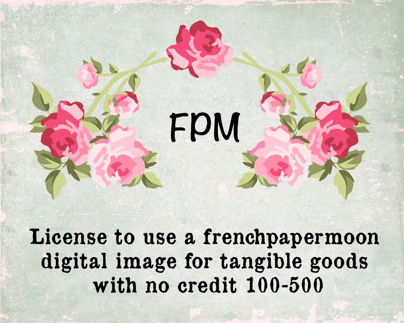 Commercial Use License for Tangible Goods 100-500 image 0