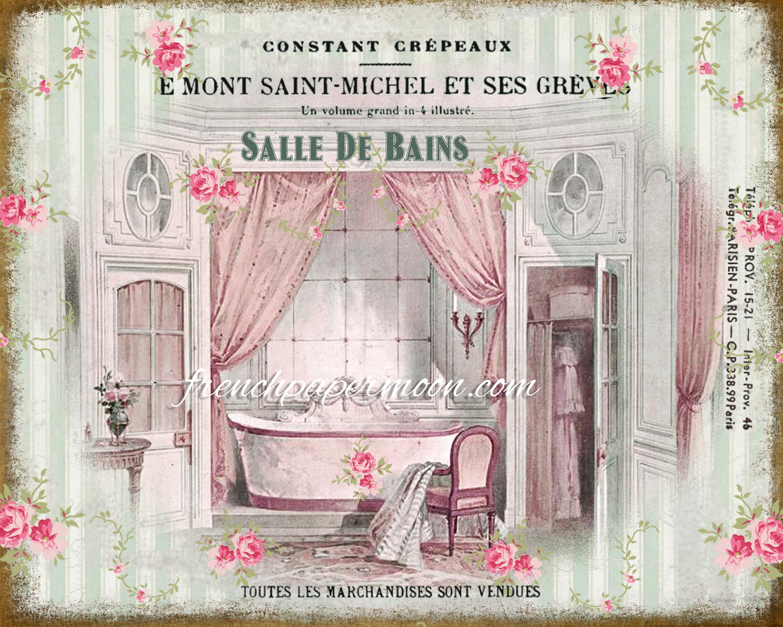 Salle De Bain Image shabby vintage french bathroom, salle de bain, victorian