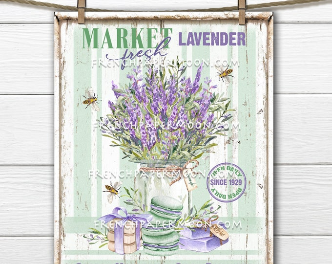 Farm Fresh Lavender, Lavender Market, Lavender Bouquet, Soaps, DIY Sign, Wreath Accent, Pillow Image, Fabric Transfer, Modern Farmhouse, PNG