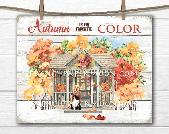 Autumn Trees, Digital, Farmhouse, Fall landscape, Fall Forest Trees, Home Decor Sign, Fabric Transfer, Wreath Accent, Image Transfer,