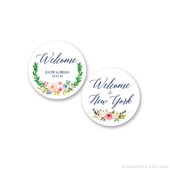 Wedding Stickers Wedding Favor Stickers Wedding Welcome Bag Etsy