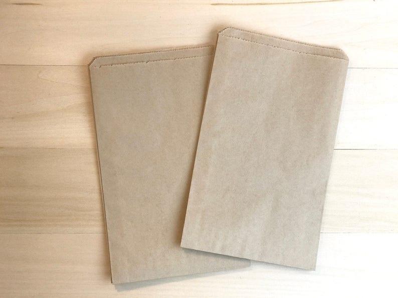 100 Favor Bags Treat Bags Kraft Bags Brown Bags Paper Etsy