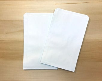 50 Favor Bags / Treat Bags / White Kraft Bags / White Bags / Paper Bags / Wedding Favor / Cookie Bags / Wedding Favor Bag Wedding Candy Bags