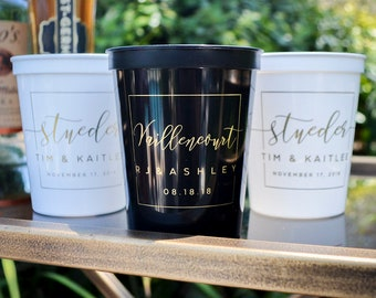 Cups Weddings 1847 Wedding Anniversary Cups Monogrammed Wedding Cups Wedding Reception Cups Color Changing Cups Custom Party Cups