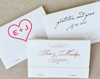 75 of the 40-Strike Personalized Matchbooks, Custom Wedding Favors, Personalized Wedding Matches, Printed Bar Matchbooks