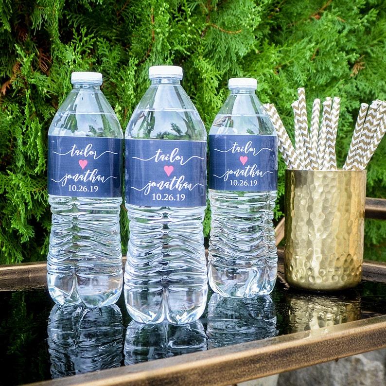 Personalized Wedding Water Bottle Labels Wedding Reception Water Bottle Labels Custom Event Water Bottle Labels